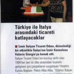 01.05.2019-Türkiye ile İtalya Arasındaki Ticareti Katlayacaklar(İzmir Life)