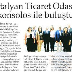 04.05.2019-İtalyan Ticaret Odası Konsolos İle Buluştu(Yenigün İzmir)