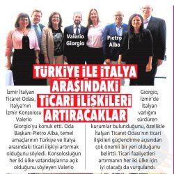 05.05.2019-Türkiye ile İtalya Arasındaki Ticari İlişkileri Arttıracaklar(Posta İzmir)