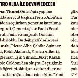 09.04.2019-İzmir İtalyan Ticaret Odası Yola Pietro Alba İle Devam Edecek(Dünya)