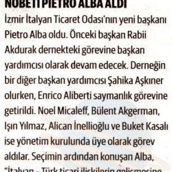 11.02.2017-İzmir İtalyan Ticaret Odası'nda Nöbeti PIETRO ALBA Aldı(Dünya)