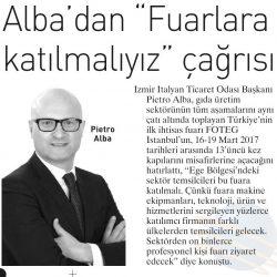 13.03.2017-Alba'dan Fuarlara Katılmalıyız Çağrısı(Ege Telgraf)
