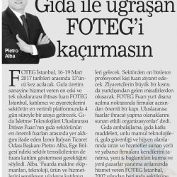 13.03.2017-Gıda ile Uğraşan FOTEG'i Kaçırmasın(Haber Ekspres İzmir)