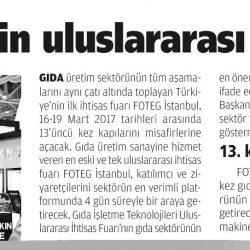 13.03.2017-Türkiye, İhracat için Uluslararası Fuarlara Katılmalı(Milat)