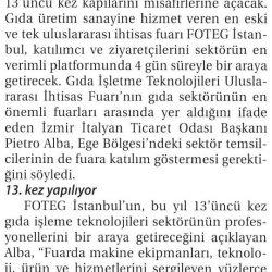14.03.2017-İhracat İçin Uluslararası Fuarlara Katılmalıyız(Ticaret Gazetesi- İzmir)