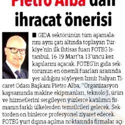 14.03.2017-Pietro Alba 'dan İhracat Önerisi(Hürriyet Ege)