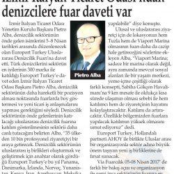23.03.2017-İzmir İtalyan Ticaret Odası'ndan Denizcilere Fuar Daveti Var(Yenigün-İzmir)