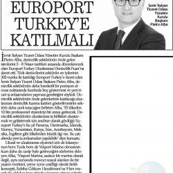 23.03.2017-Denizciler Europort Turkey'e Katılmalı(Haber Ekspres-İzmir)