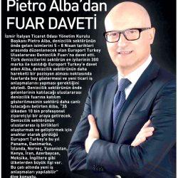 23.03.2017-Pietro Alba'dan Fuar Daveti(Ege Telgraf)