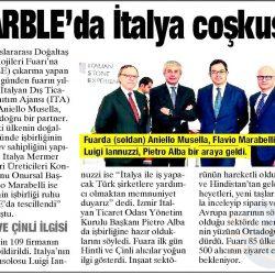24.03.2017-Marble'da İtalya Coşkusu(Yeni Asır)