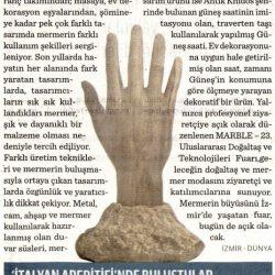 25.03.2017-Mermere Sanatsal Dokunuşlar Marble'da Sergileniyor(Dünya)
