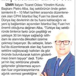 27.02.2017-İtalyan Ticaret Odası İlaç Fuarına Davet Etti(İzmir 9 Eylül Gazetesi)