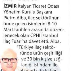 27.02.2017-İzmir İtalyan Ticaret Odasından Fuar Daveti(Milliyet Ege)