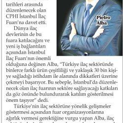 27.02.2017-Türkiye İlaç Sektöründe Dikkatleri Üzerine Çekti(Yenigün-İzmir)