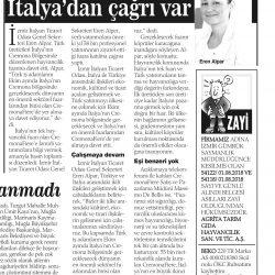 27.07.2019-Türk İş Dünyasına İtalya'dan Çağrı Var (Haber Ekspres İzmir)