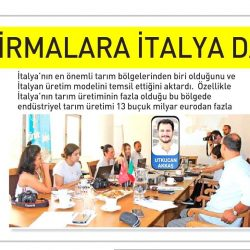 27.07.2019-Türk Firmalara İtalya Daveti (Ege Telgraf)