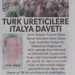 28.07.2019-Türk Üreticilere İtalya Daveti (Posta İzmir)