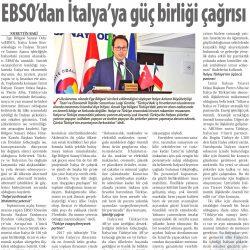 10.11.2018-EBSO'DAN İTALYA'YA GÜÇ BİRLİĞİ ÇAĞRISI-ticaret gazetesi