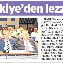 23.09.2018-İtalya ile Türkiye'den Lezeette İş Birliği(Yeni Asır)