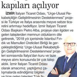 24.12.2018-İtalya Pazarının Kapıları Açılıyor(İzmir 9 Eylül Gazetesi)